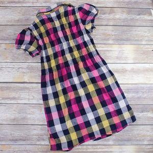 Tally Weijl Dresses - Tally Weijl Navy, Pink & Yellow Flannel Mini Dress